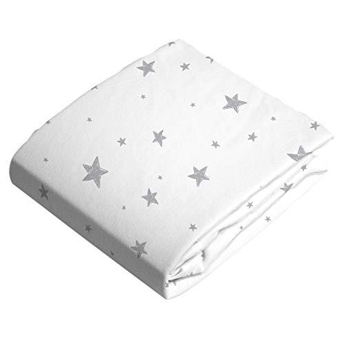 (Kushies Bassinet Sheet Scribble Stars Grey)