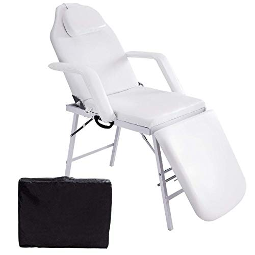 """Safeplus 73"""" L Folding Massage Table Massage Bed Professional Spa Bed Carry Case Portable Facial Salon Tattoo Bed"""