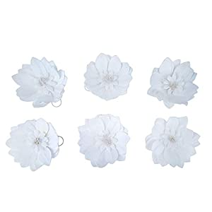 "BalsaCircle 6 8"" Wide Artificial Dahlia Flowers for Wall Backdrop - Wedding Party Craft DIY Decorations Arrangements Centerpieces 50"