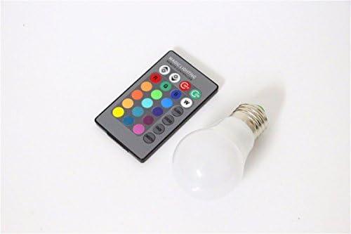 Multi Color E27 LED Light Bulb with Remote Control