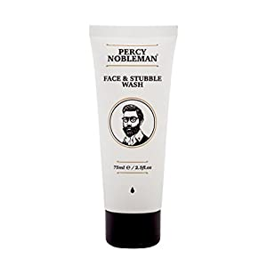 Face and Stubble Wash by Percy Nobleman 75 ml / 2.5fl.oz. An Invigorating and hydrating Face Wash For Men. Cleanse and Soften Your Face and Skin with Our Awakening 98% Naturally Derived Face Wash.