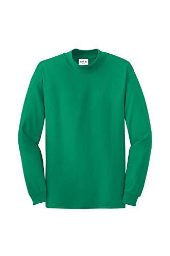 Clothe Co. Mens Mock Turtleneck Long Sleeve Shirt,Kelly Green,M