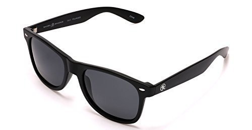 Samba Shades Polarized Modern Venice Wayfarer Sunglasses Black Frame, Mirrored Lens Black Replica Sunglasses