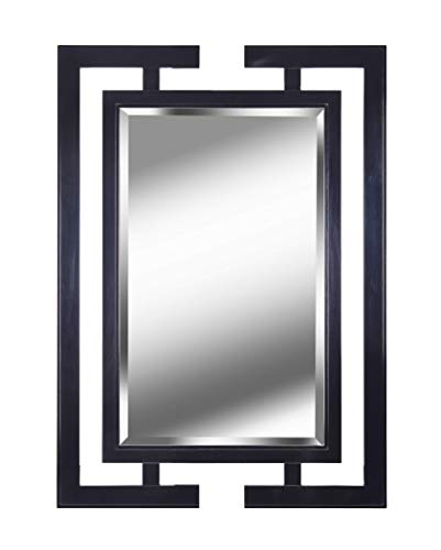 ectangular Wall Mirror, 29 x 41 x 1, Black ()
