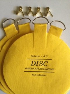 Original English Plate Hanger Disc Kit-Quantitiy of four 5 inch disc ...