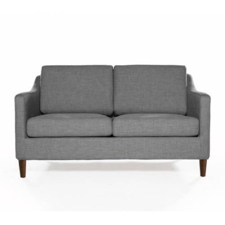Better Homes and Garden Griffin Loveseat, Features Sweeping Arms and Rich Medium Finished Cone Legs (Heather Grey) - Finished Settee