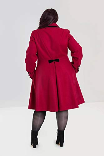 Noeud Manteau Olivia Bunny 10 Style UK Rouge Hell S Vintage 4TSEqqP