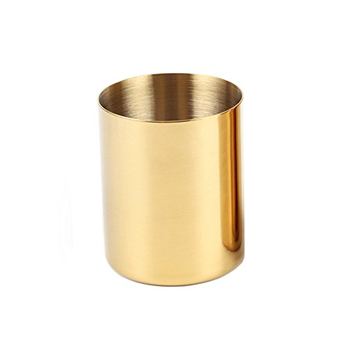 MultiBey Golden Pen Holder Simple Rose Gold Flower Mini Vase - Vase Mini Flower