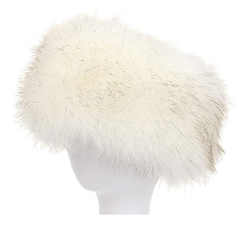 La Carrie Faux Fur Headband with Stretch Women's Winter Earwarmer Earmuff (white)