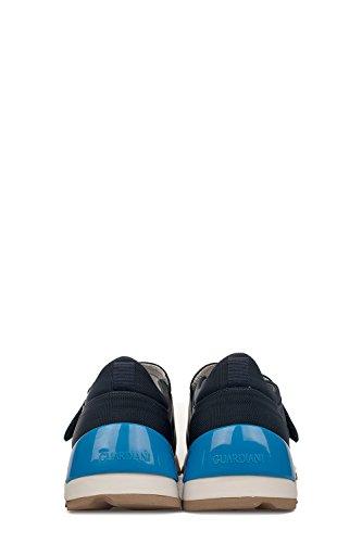 Alberto Guardiani Slip On Sneakers Uomo SU76491BXY78 Pelle Blu