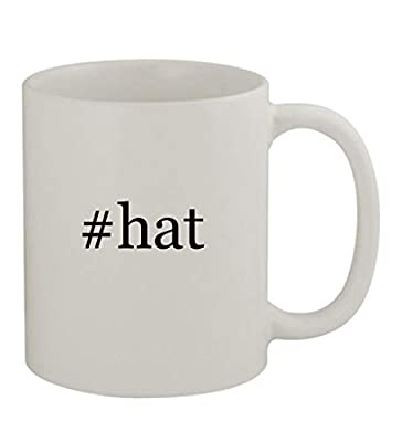 #hat - 11oz Sturdy Hashtag Ceramic Coffee Cup Mug, White