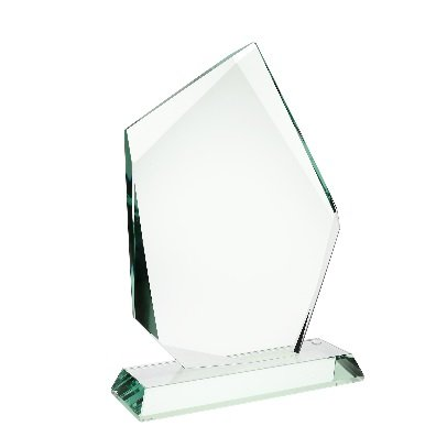 Jade Glass Summit Award with Base 10-3/7