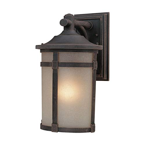 "Wall Sconces 1 Light Bulb Fixture with Bronze Finish Cast Aluminum Medium 12"" 100 Watts"