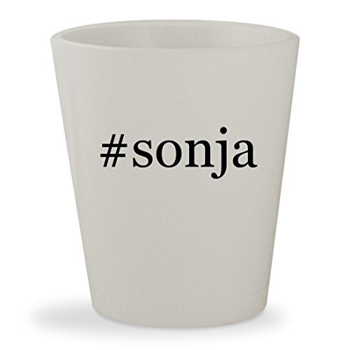 #sonja - White Hashtag Ceramic 1.5oz Shot Glass (Red Sonja Costume)