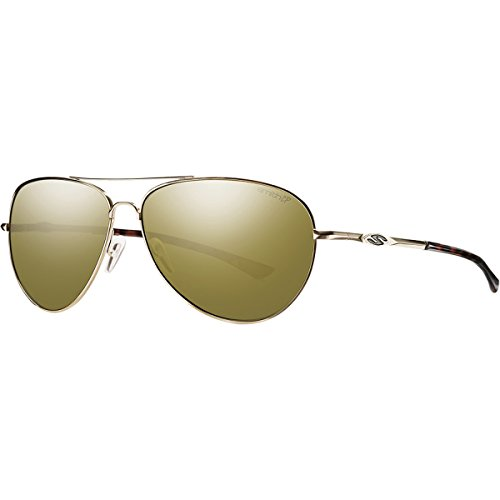 Smith Optics Audible Lifestyle Polarized Sunglasses, Gold/Chromapop Bronze - Audible Smith Sunglasses