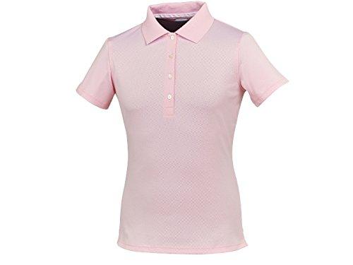 Footjoy Stretch Pique - Polo piqué para Mujer, Color Rosa/Blanco ...