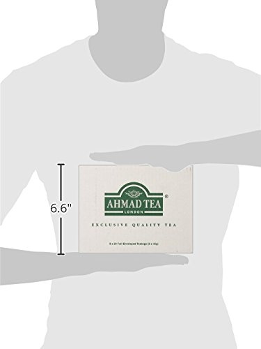 Ahmad Tea Peach & Passion Fruit Black Tea, 20-Count Boxes (Pack of 6) 8 Case of six boxes, each containing 20 foil-wrapped tea bags (120 total tea bags) A blend of Ceylon and other origin teas with peach and passion fruit flavoring Stimulating tea with a resonant, fruity aroma
