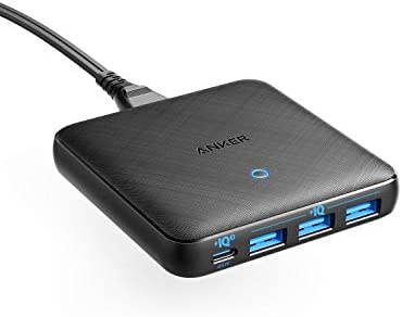 USB C Charger, Anker 65W 4 Port PIQ 3.0 & GaN Fast Charger Adapter, EnergyPort Atom III Slim Wall Charger with a 45W USB C Port, for MacBook, USB C Laptops, iPad Pro, iPhone, Galaxy, Pixel and More