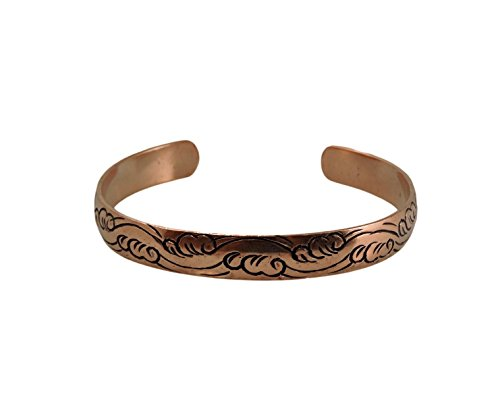 Tibetan Hand Crafted Copper Medicine Bracelet From Nepal (Style 10)