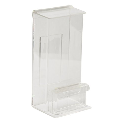 Card Pocket Outside (Clear-Ad - Acrylic Outdoor Brochure Holder 4x9 with Lid & Business Card Pocket - Outside Waterproof Wall Mount Document & Flyer Box - Weather Proof Envelope Holder - CCAH-0409-BC (Pack of 2))
