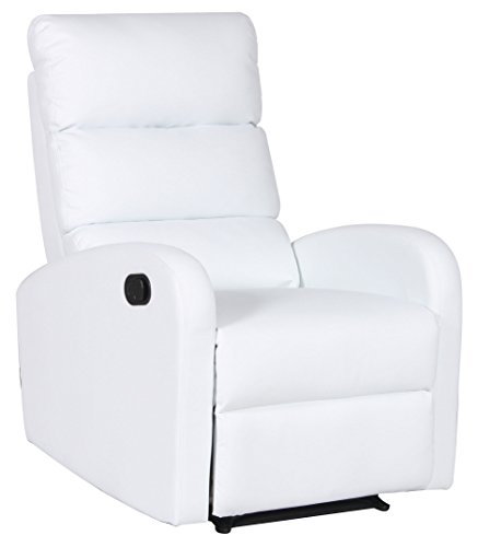 Milan Albuquerque Manual Adjustable Recliner Chair, White