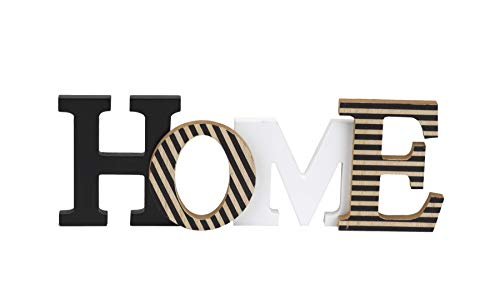 (10 Street Home Modern Rustic Wood Home Decorative Sign, Standing or Wall Mount Cutout Word)