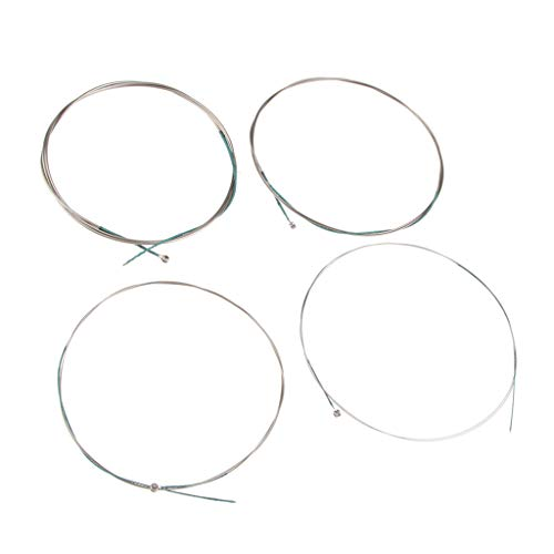 SM SunniMix 4pcs Daruan Chinese Pipa Lute Steel Core String with Cupronickel Winding ()