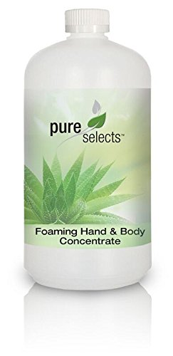 Pure Selects Foaming Hand & Body Concentrate • no added fragrance or dye • 1 Quart makes 64 Foaming Soap Dispensers • HYPOALLERGENIC • All Natural • Plant Derived • Safe for Sensitive Skin