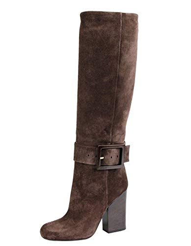 Gucci Women's Brown Suede Buckle Kesha Heel Boots 338692 2140 (38.5 G / 8.5 US) - Gucci Brown Boots