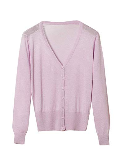 Eleganti Cappotto Giacca Maniche Di neck Marca Mode Autunno Donna Base Fashion V Casual Maglia A Monocromo Button Purple Bolawoo Knit Lunghe Giacche Comodo 0RxwdfqIR