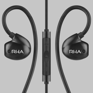 RHA T20i Black: High Fidelity Noise Isolating DualCoil in-Ear Headphones with Remote & Microphone