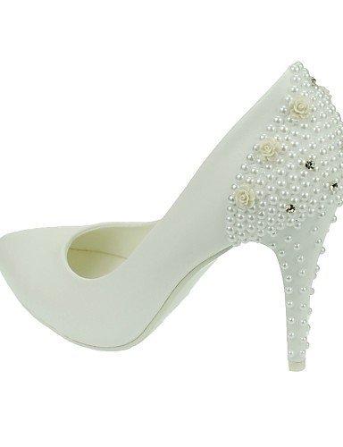 ShangYi Schuh Damen - Spitzschuh Hochzeitsschuhe - Absätze / Spitzschuh - - High Heels - Hochzeit / Kleid - Weiß  4in eb808d