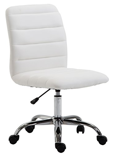 Swivel Poly - POLY & BARK EM-306-WHI Polox Task Chair in Vegan Leather, White