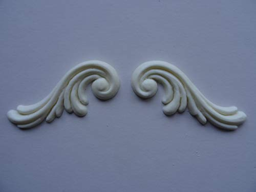 Decorative Georgian Scrolls x 2 Applique onlay Furniture Moulding GS2 ()
