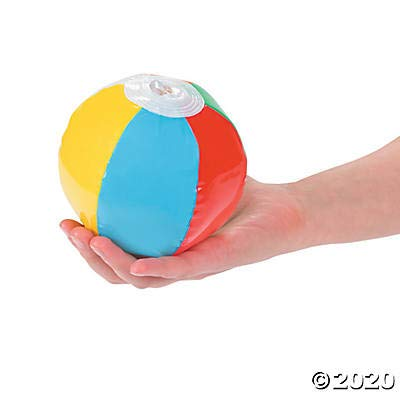 Fun Express Mini Beach Ball Assortment (25 Ball Pack) Great for Parties, Pool and Favors: Toys & Games