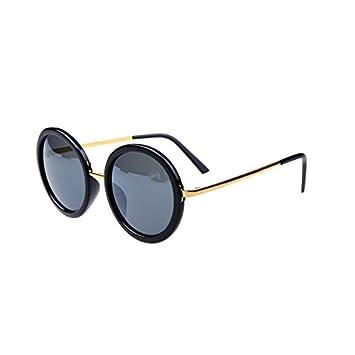 LiquanShop Gafas de sol grandes cristales redondos Lentes de ...