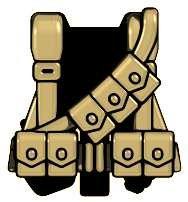 BrickArms Combat Vest WW2 US Rifleman 2.5-Inch ()