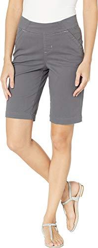 Jag Jeans Women's Gracie Pull-On Bermuda Shorts Twill Grey Streak 6 (28