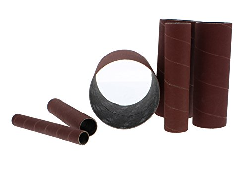 """ABN Aluminum Oxide Spindle Sanding Sleeves 6-Pack, 240-Grit, 4.5"""" Inch Length – 1/2"""