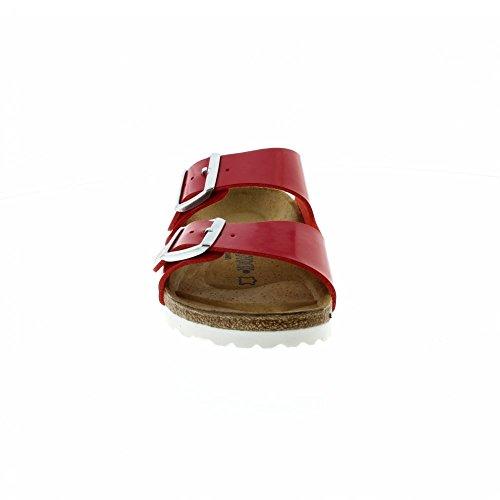 Birkenstock Arizona Narrow Fit - Patent Tango Red 1005283 (Man-Made) Womens Sandals 43 EU by Birkenstock (Image #3)