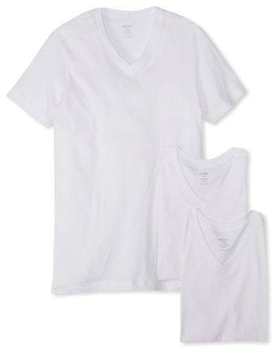 ack V-Neck T-Shirt,White,Large (Essential V-neck T-shirt)