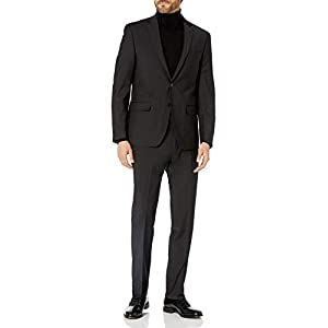 Best Epic Trends 31rIL5UBL1L._SS300_ Calvin Klein Men's Slim Fit Stretch Wool Suit