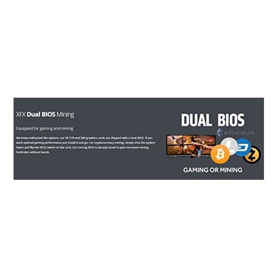 XFX GTS XXX Edition RX 580 4GB OC+ 1386Mhz DDR5 W/Backplate 3xDP HDMI DVI Graphic Cards RX-580P4DFD6 31rILKyBf%2BL. SS555