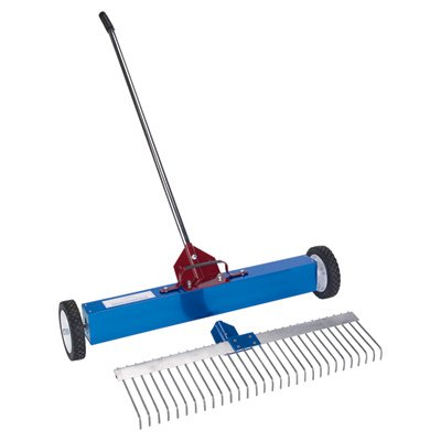 AMK Manufacturing Rolling Magnetic Sweeper Rake Attachment - for Item Number 1501682, Model Number MSM Rake