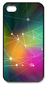 Abstract Design Multicoloured DIY Hard Shell Black iphone 4/4s Case Perfect By Custom Service
