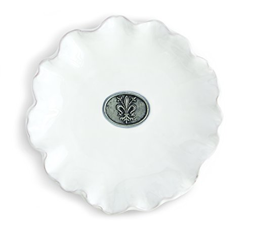 - Mud Pie Fleur De Lis Salad and Dessert Plate