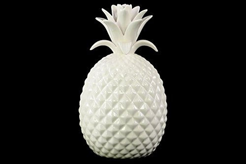 Porcelain Pineapple (Urban Trends Porcelain Pineapple Figurine LG with Gloss Finish, White)