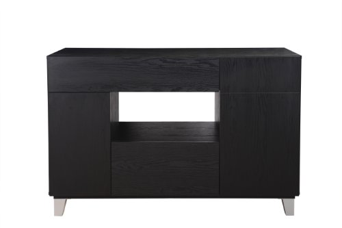 ioHOMES Jersey Modern Dining Buffet, Black Finish - Large Sideboard