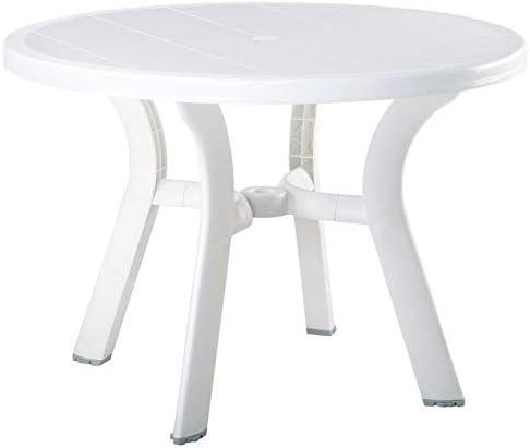 Compamia Truva 42″ Round Resin Patio Dining Table