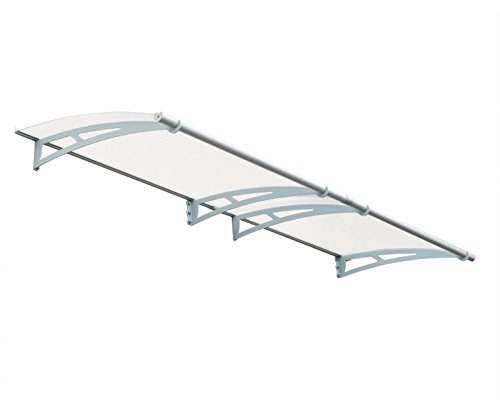 Palram Aquila 3000 Door Window Awning, 10 L x 3 W x 6.9 H – Gray Clear